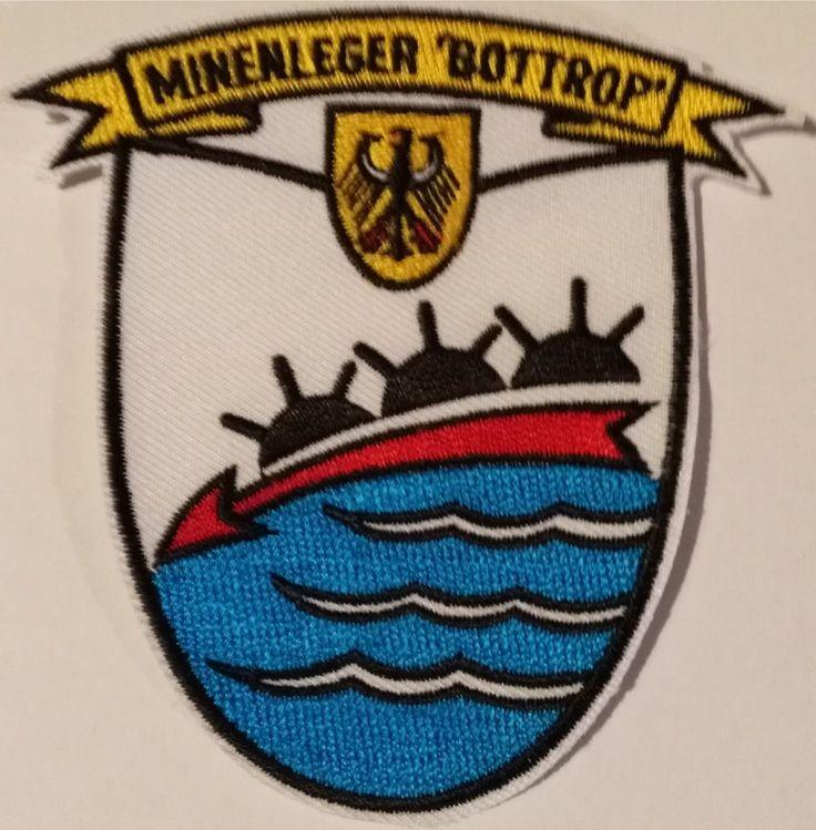 Patch GE Navy FGS Bottrop Minelayer Aufnaeher Minenleger Bottrop