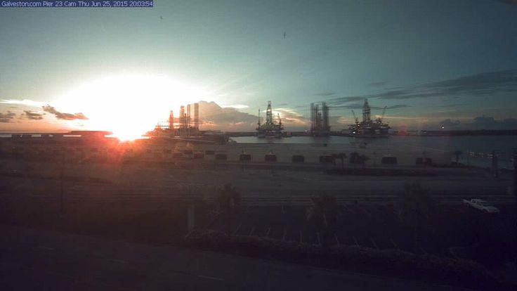 Webcam Quai 23 de l'Île de Galveston - Voici la webcam du Quai 23 (Pier 23), terminal de...