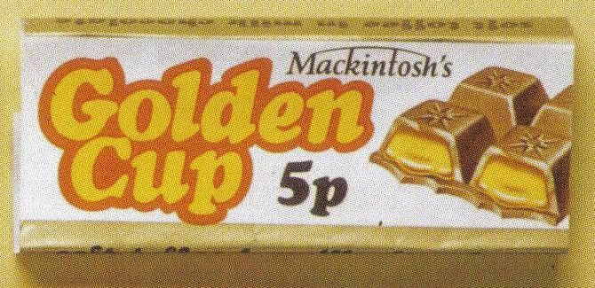 Sweet wrappers over the years - Golden Cup