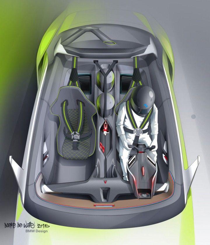 BMW 3.0 CSL Hommage Concept Interior Design Sketch