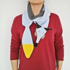 Fox toy, design by Lady Stump, #handmade #toys #cuddly #ladystump #gift #prezent #kids #maker #doll #mascots #plush #fox #scarf #scarffox