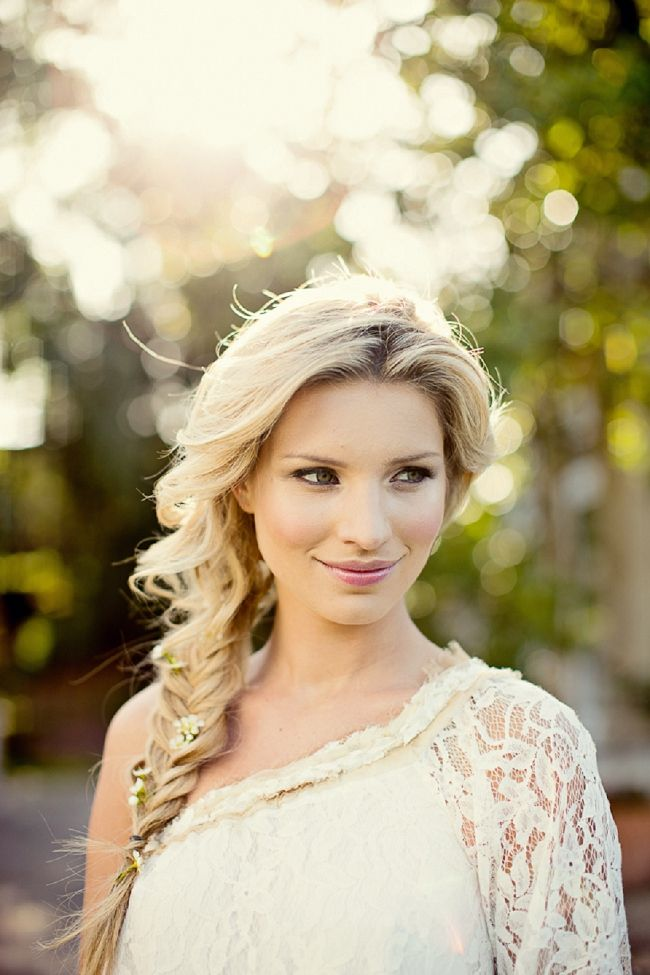 Beautiful wedding hair- braid. Bridal Hair by Hepburn Collection photography by Marianne Taylor