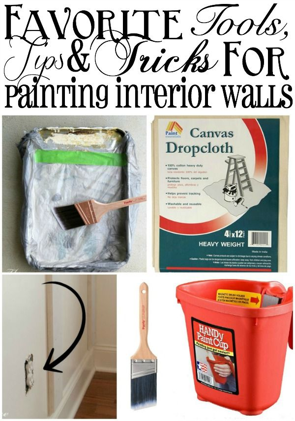 Favorite Tools, Tips and Tricks for Painting Interior Walls | TheTurquoiseHome.c... home interior painting