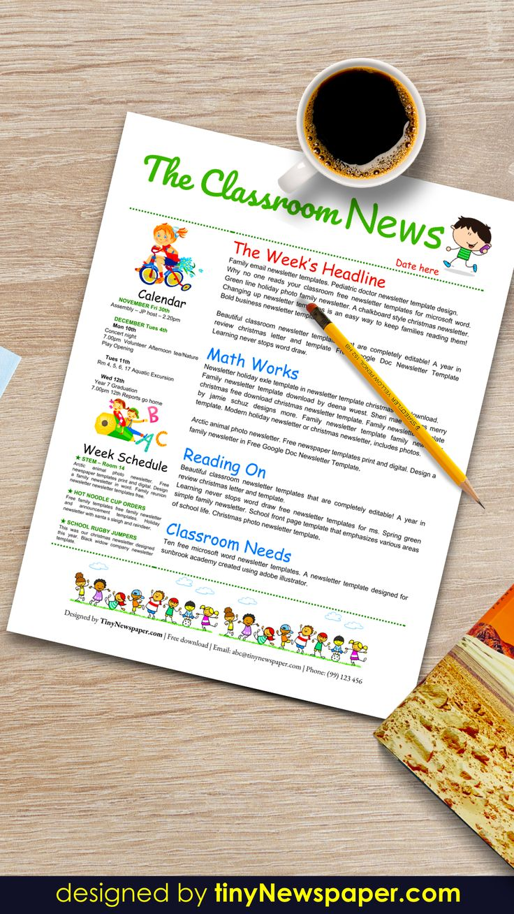 Free Google Doc Newsletter Template Free Classroom Newsletter Template Newsletter Templates Newsletter Template Free Newsletter template for google docs