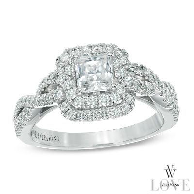 198 best images about vera wang love on pinterest blue sapphire white gold and split shank engagement rings - Vera Wang Wedding Ring