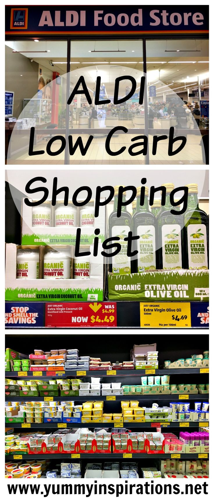 ALDI Low Carb Shopping List + Keto Diet Grocery Haul Video - a list of products to seek out at ALDI that are Ketogenic Diet friendly.
