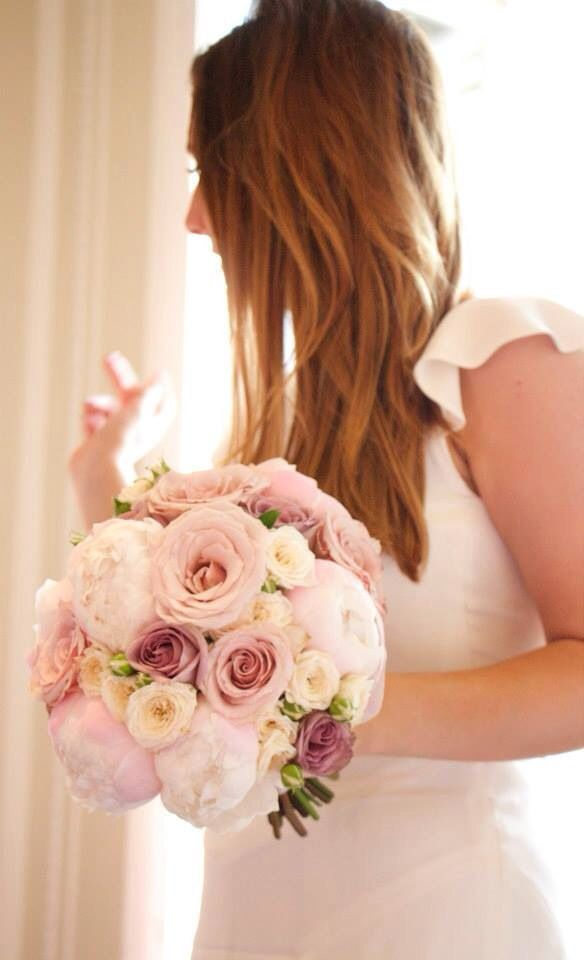 Stephanie Saunders Floral Design Peony and Rose bouquet