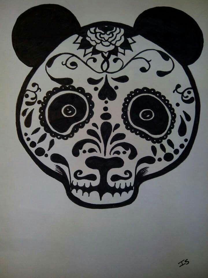 #draw #art #blackandwhite #panda #deadpanda