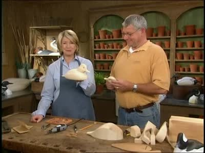 Martha Stewart learns how to carve duck decoys with Phil & Wyatt Freed