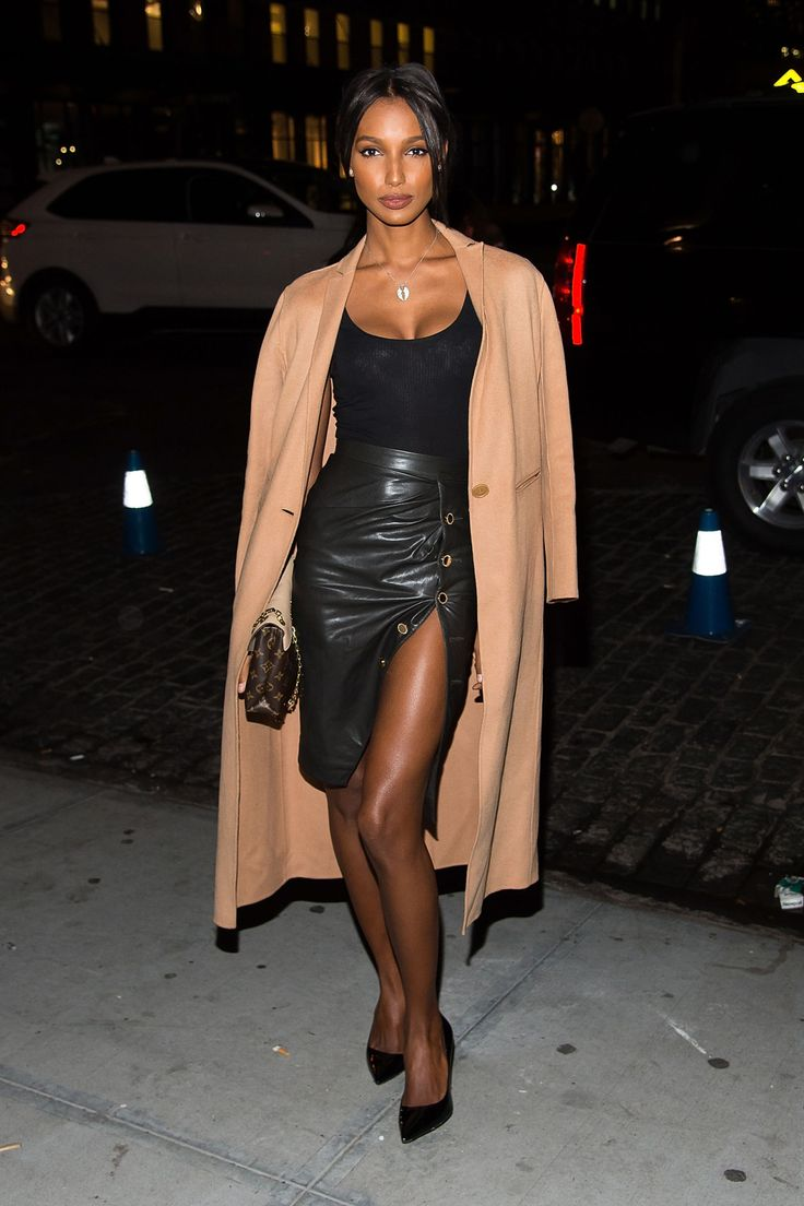 """runwayandbeauty: """" Jasmine Tookes - What all the Victoria's Secret Angels wore to watch the Show. """""""