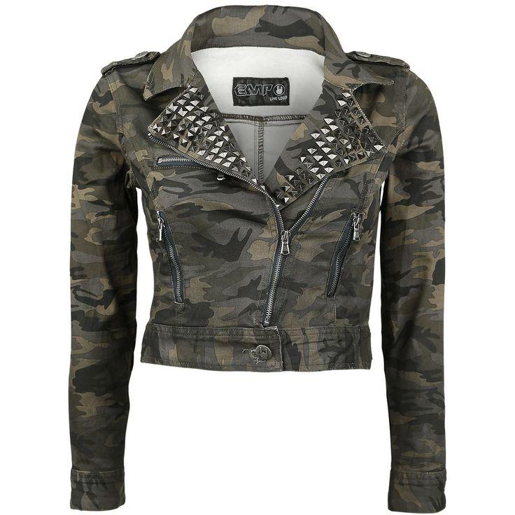 Studded Camo Jacket