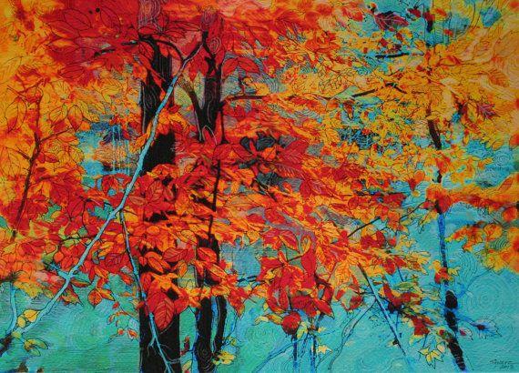 Autumn Tapestry 11x14 Original Signed Fine Art