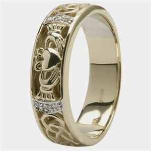 Irish wedding band....will always love the symbolism of the hands, heart, and crown!!