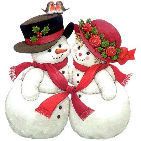un couple de bonhomme de neige 5                                                                                                                                                                                 Plus