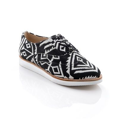 Black and white Aztec shoes