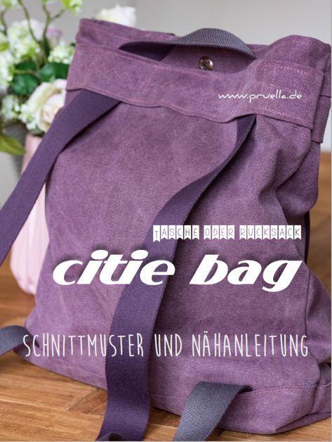 Prülla Rucksack Schultertasche Citie Bag Schnittmuster Ebook
