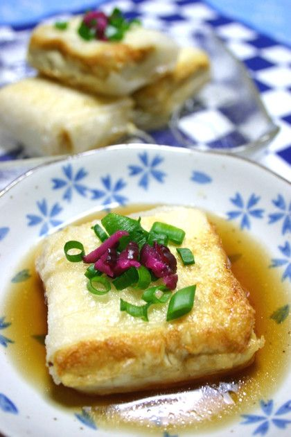 ライスペーパーで揚げ出し豆腐……ライスペーパの活用法めっけ♪これなら絹ごしも崩れない!衣がはがれない!冷めてもポロっとハゲたりしない!やってみそ♡