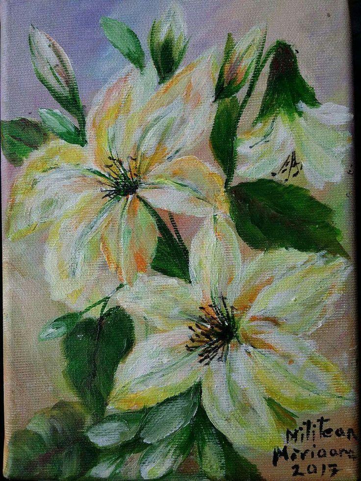 Crini(15€) Tablou pictat pe panza Dimensini 22/16cm Disponibil