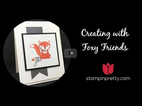 This 1 Minute to WOW! video shares how to create simple & pretty hand crafted cards using Foxy Friends stamp set & the Fox Builder Punch.  Mary Fish, Stampin' Up! Demonstrator.  1000+ StampinUp & SUO card ideas on http://stampinpretty.com/2016/06/foxy-friends-wow-video.html