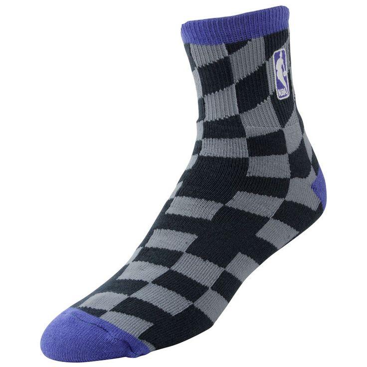 NBA Logo Champion Socks - Charcoal/Purple