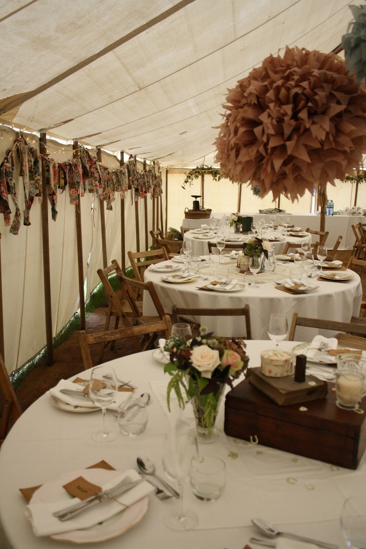 The Blossom Tree: Rustic Marquee Wedding