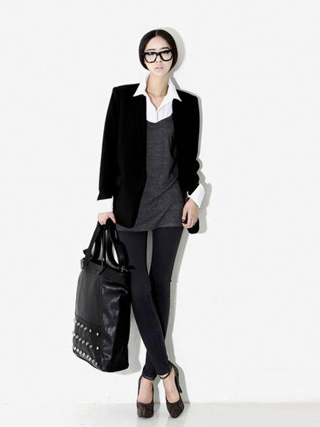 Classy Black Jacket | Korean Fashionista