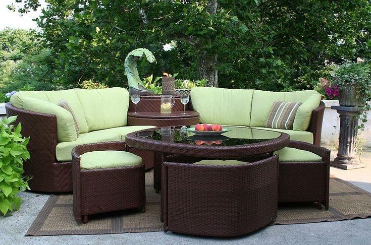 Slick Curved Outdoor Sectional Can Be Turned To Create Any Angle. |  Thinking Spring | Pinterest | Outdoor Sectional, Outdoor Wicker Furniture  And Wicker ...