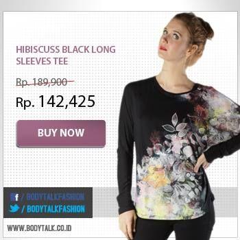 Manfaatkan diskon 25% untuk dapatkan tshirt cantik ini. Segera miliki koleksinya di: www.bodytalk.co.id