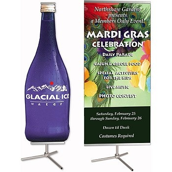 Dash Single Sided Banner Stand with Graphic Print