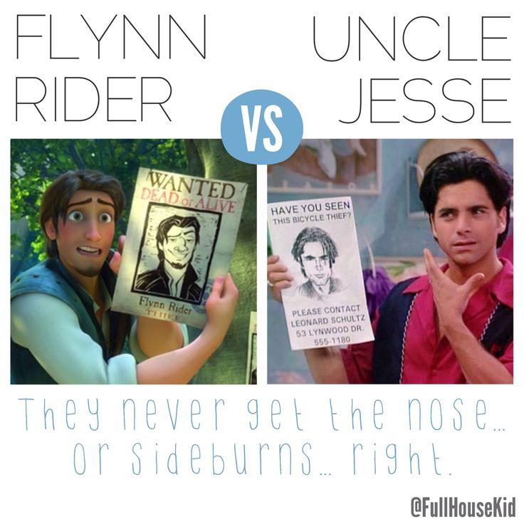 Flynn Rider vs. Uncle Jesse... Hmmm! Follow @FullHouseKid on Twitter for more #FullHouse funnies! #Tangled