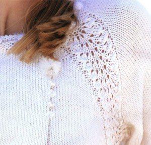 White dress knitting Snow / Life Design