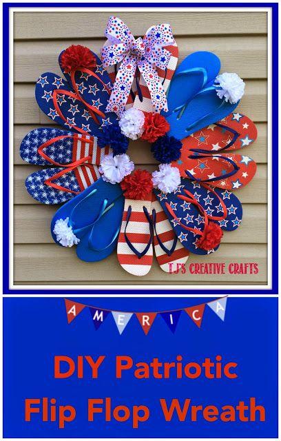 DIY: Dollar Store Patriotic Flip Flop Wreath Tutorial