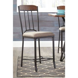 Shop for Signature Design by Ashley Zanilly Two-Tone Upholstered Barstool (Set of 2). Get free shipping at Overstock.com - Your Online Furniture Outlet Store! Get 5% in rewards with Club O! - 19002457