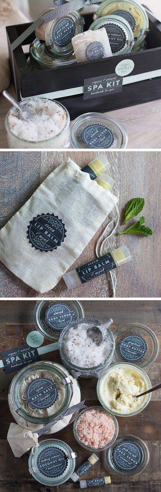 Homemade Natural Spa Kit | #muttertag #geschenkideen #diy #geschenke