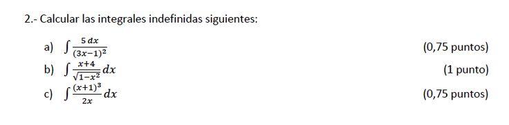 Ejercicio 2A 2013-2014 Julio. Matemática, pau de Canarias, matemática 2, integrales