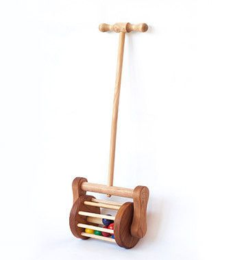 Wooden Lawnmower Push Toy | Handmade Wooden Baby Toys | Brimful Toys