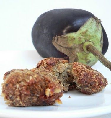 Eggplant 'croquettes' or meatless eggplant meatballs to me ! #thermomix