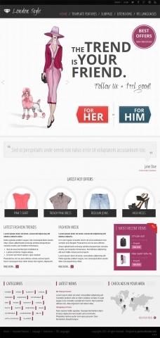 JM-Fashion-Trends, purple template version
