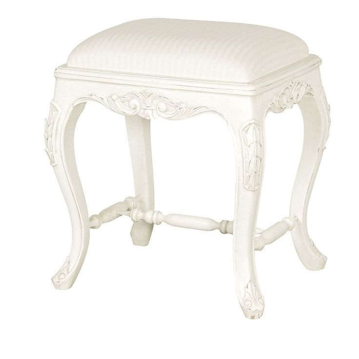 Chateau White Painted French Small Dressing Table Stool