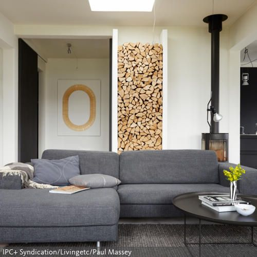 17 Best Images About Kaminholz On Pinterest | Grey Fireplace, Deko ... Deko Modern Living