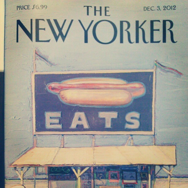 Great cover from the #NewYorker #food issue