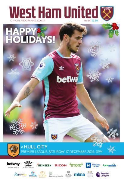 West Ham United vs Hull City - 17 December 2016