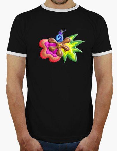 Camiseta de hombre Explosión de Color - Man t-shirt Color Explosion - #Shop #Gift #Tienda #Regalos #Diseño #Design #LaMagiaDeUnSentimiento #MaderaYManchas #Man #Hombre #tshirt #Cool #colors #ringer