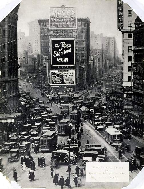 Then: Times Square (1922)  Part of a wonderful The and Now photo essay...