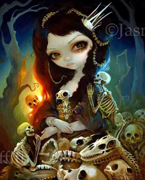 Princess of Bones - Strangeling: The Art of Jasmine Becket-Griffith - www.strangeling.com