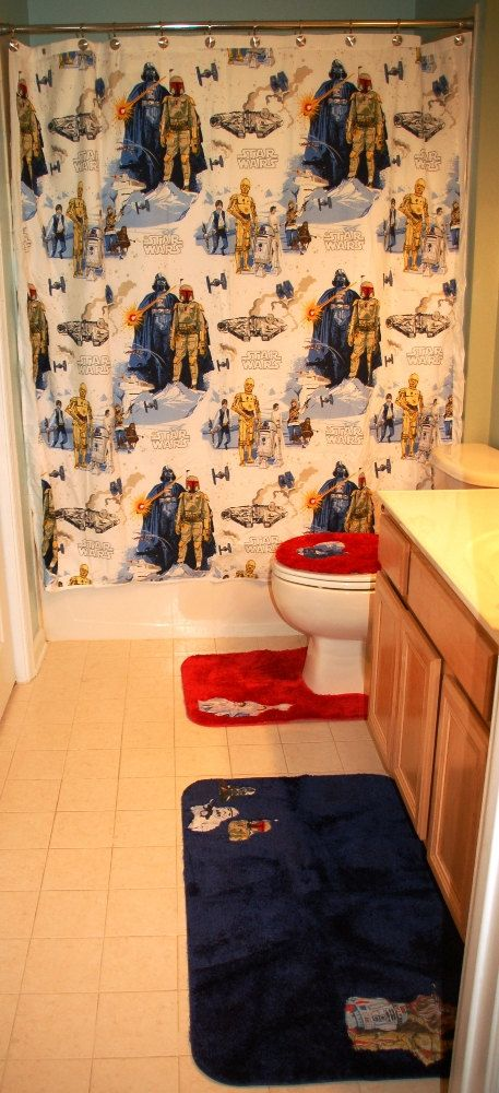 Complete Bathroom Set Made With New Star Wars by greatfulthread, $260.00