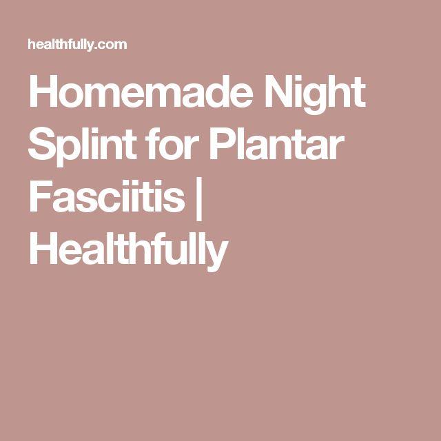 Homemade Night Splint for Plantar Fasciitis | Healthfully