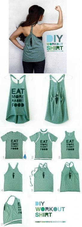 Diy work out shirt