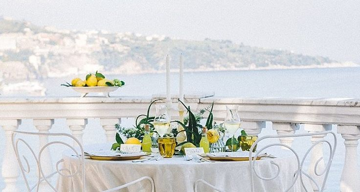 Limoncello Inspired Wedding Shoot from the Amalfi Coast
