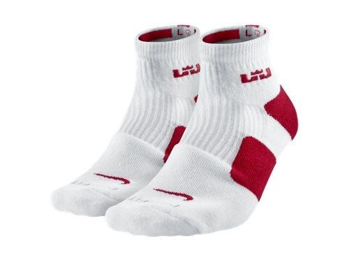 LeBron Elite Hi Quarter Basketball Socks (Large/2 Pair)